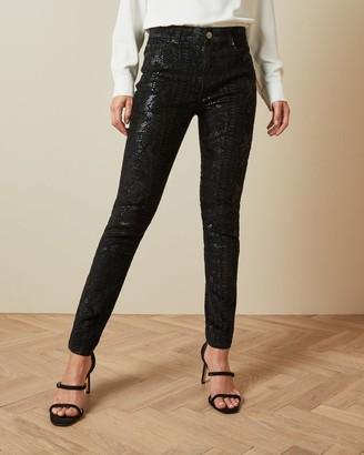 Ted Baker Snake Effect Skinny Jeans