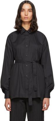 Fumito Ganryu Black Kimono Button-Down Shirt