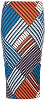 Dorothy Perkins Blue and Orange Geometric Print Tube Skirt