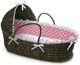 Badger Basket Espresso & Pink Polka Dot Hooded Basket