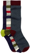 Ted Baker Ramzee Mixed Socks - Pack of 3