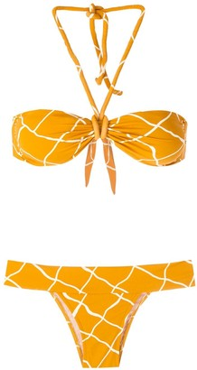 ESC TQC print bikini set