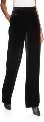 Lafayette 148 New York Dalton Wide-Leg Velvet Pants