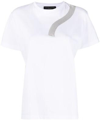 Fabiana Filippi metallic-thread short-sleeve T-shirt
