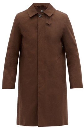 MACKINTOSH Dunkeld Wool-lined Bonded-cotton Overcoat - Brown