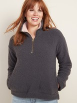 Old Navy Plush Sherpa 1/4-Zip Pullover for Women