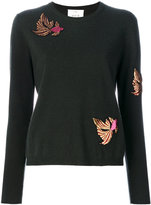 Allude embellished patch sweater