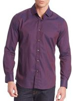 Robert Graham Barta Textured Cotton Blend Shirt