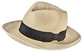 Mossimo Women's Straw Panama Hat with Black Bow Sash - Cream