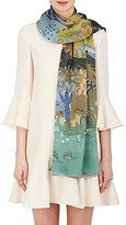 Valentino Women's Garden-Print Silk Stole