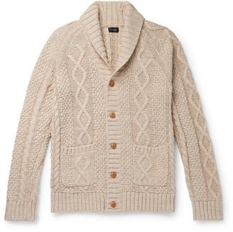 J.Crew Shawl-Collar Cable-Knit Cotton Cardigan