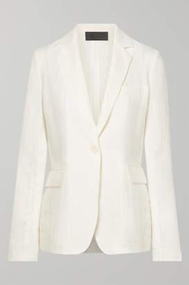 Nili Lotan Sophia Linen Blazer - White