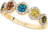 LeVian Le Vian Exotics® Multicolor Diamond Ring (3/8 ct. t.w.) in 14k Gold