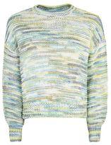 Topshop Rainbow space dye jumper