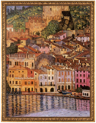 Gustav Overstock Art La Pastiche By Overstockart Malcesine On Lake Garda,1913 By Klimt