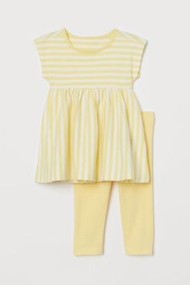 H&M Dress and Leggings - Yellow