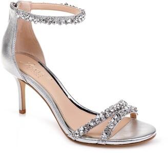 Badgley Mischka Darlene Embellished Ankle Strap Sandal