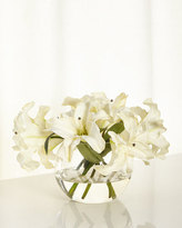 John-Richard Collection Oriental Lilies Faux-Floral Arrangement