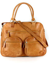 Etsy Brown Leather Weekend Holdall Travel Diaper Bag, Tan