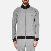 HUGO BOSS Men's Zipped Jacket Grey