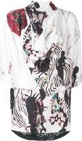 Antonio Marras printed asymmetric blouse - women - Silk/Acetate/Viscose - 40