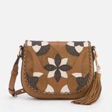 MICHAEL Michael Kors Women's Brooklyn Patchwork Medium Saddle Bag - Acorn