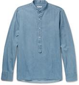 Michael Bastian - Grandad-collar Cotton-chambray Shirt