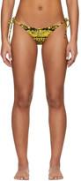 Versace Underwear Multicolor Barocco String Bikini Bottom