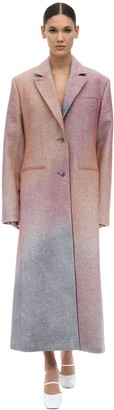 Nina Ricci Spray One Breast Wool Gabardine Coat