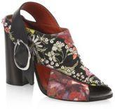 3.1 Phillip Lim Patsy Studded Floral Block Heel Slingback Sandals