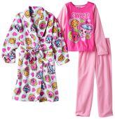 Girls 4-12 Shopkins D'lish Donut, Kooky Cookie & Cupcake Chic Pajamas & Bath Robe Set