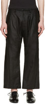 Nude:mm Black Pleated Linen Trousers