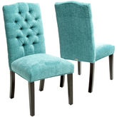 Asstd National Brand Macie Set of 2 Tufted Parsons Dining Chairs