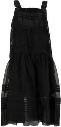 Lee Mathews Andes drop-waist dress