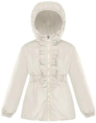 Moncler Kids Cinabre Ruffle Jacket (8-10 Years)