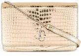 Jimmy Choo Palace metallic crossbody bag