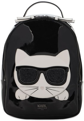 Karl Lagerfeld Paris Faux Patent Leather Backpack
