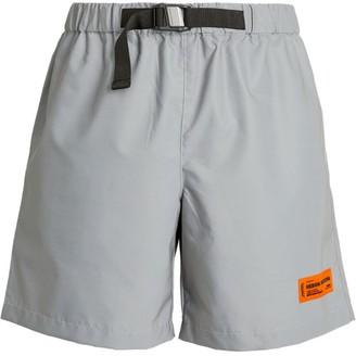 Heron Preston Reflective Logo Patch Shorts