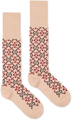 Gucci Men's Diamond Interlocking G Cotton Socks