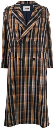 Zucca Plaid Trench Coat