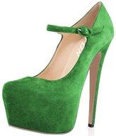 YDN Women Strappy Buckle Stiletto High Heels Platform Hidden Shoes Mary Jane Pumps Size 12