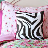 Caden Lane Limited Edition Funky Rose Decorative Zebra Square Throw Pillow