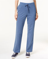 Karen Scott Petite Drawstring Active Pants, Only at Macy's