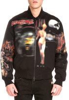 Givenchy Heavy Metal Logo-Print Bomber Jacket