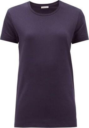Moncler Logo-patch Cotton-jersey T-shirt - Womens - Navy