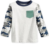 First Impressions Camo-Sleeve Pocket T-Shirt, Baby Boys (0-24 months), Only at Macy's