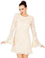 Betsey Johnson Bella Lace Bell Sleeve Dress
