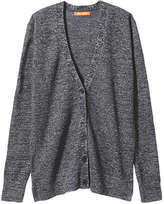 Joe Fresh Women's Sparkle Knit Cardigan, JF Midnight Blue (Size S)