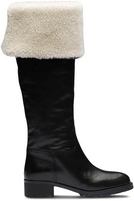 Miu Miu Knee-Length Shearling Boots
