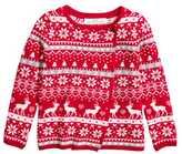 H&M Wrapover Cardigan - Red/reindeer - Kids